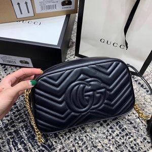 Black Gucci Marmont Crossbody Bag!
